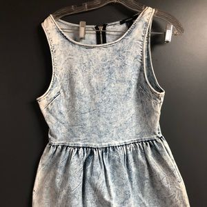 Stone wash denim dress